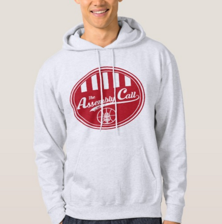 Hoodie with Assembly Call logo