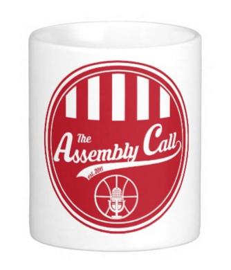 coffee mug with Assembly Call logo