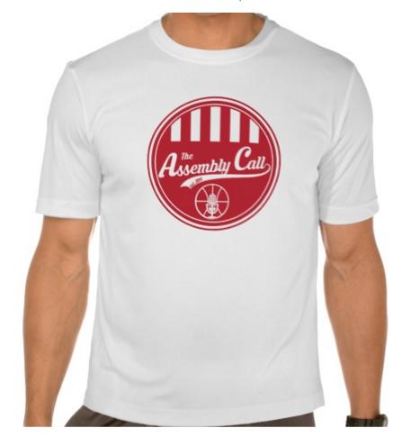 assembly call sport-tek t-shirt with official logo