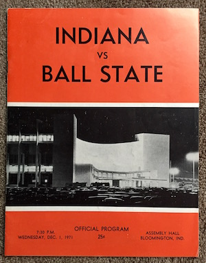 1971 Indiana v Ball State Basketball Program
