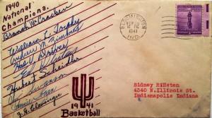 1940-41 Indiana Hoosiers Basketball Signed Envelope