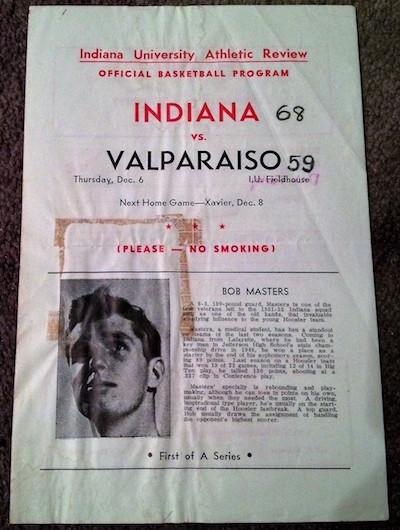 1951 IU v Valparaiso Basketball Program