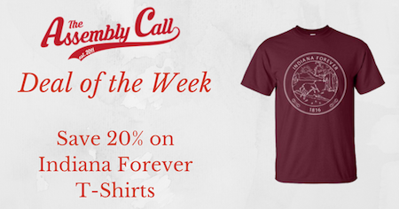 Deal of the Week: 20% Off 'Indiana Forever' Bicentennial T-Shirt at Hoosier Proud