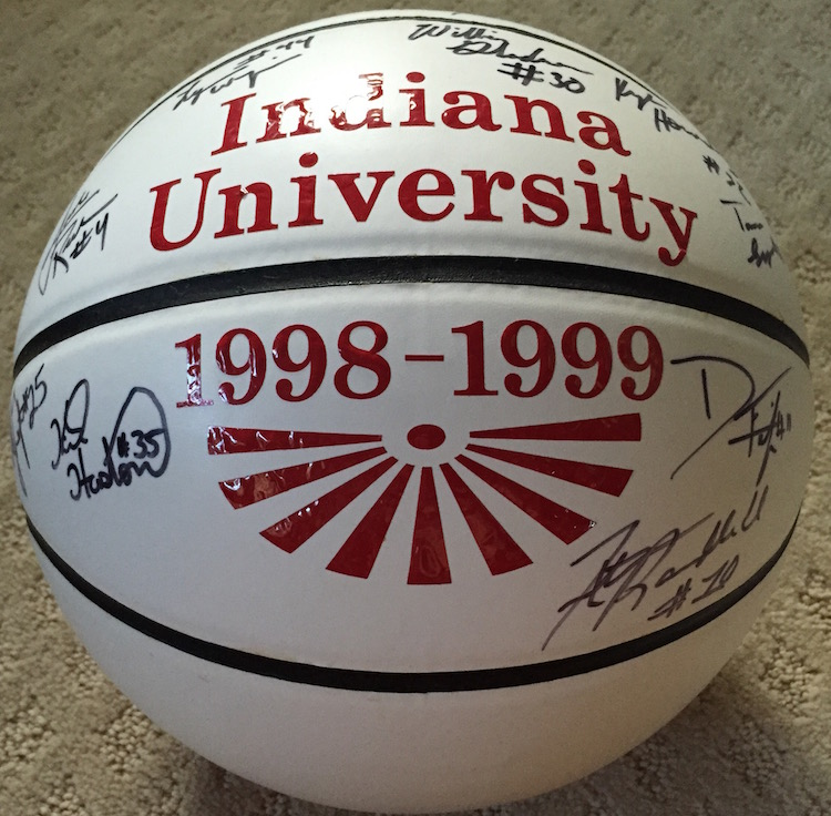 1998-99 Indiana Team-Signed Basketball