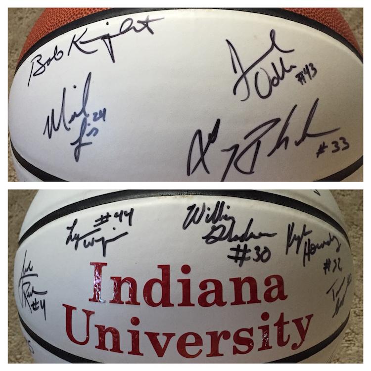 IU autographed basketball 1998-99