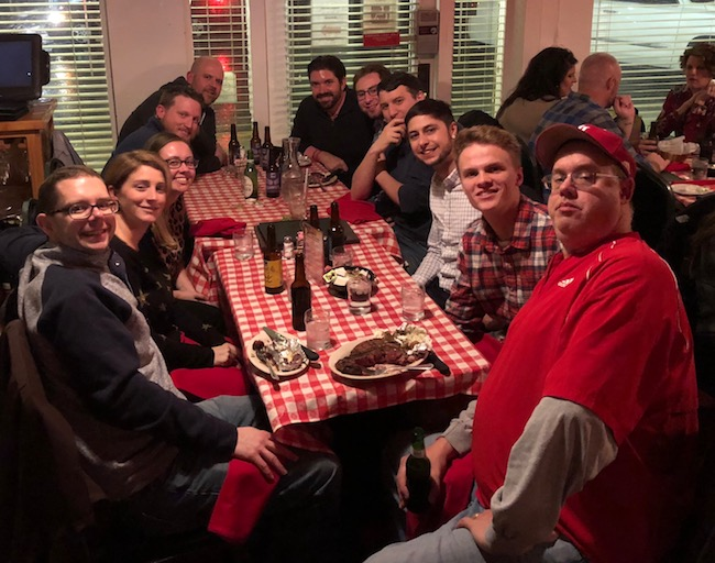 Image of AC team dinner at Janko's