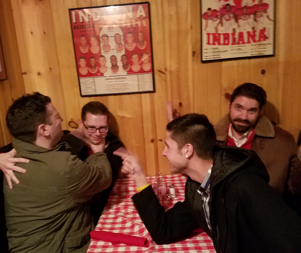 Photo from our annual team dinner at Janko's Little Zagreb in Bloomington (January 2017)