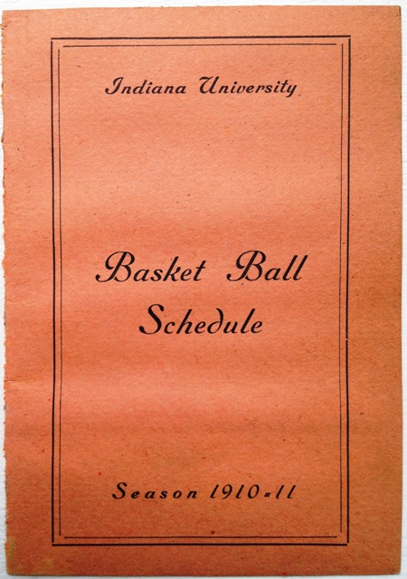 1910-11 Indiana University Basketball Schedule