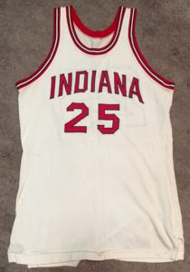 A rare 1969-70 season Jeff Stocksdale IU home jersey. This jersey bears a unique blue trim.