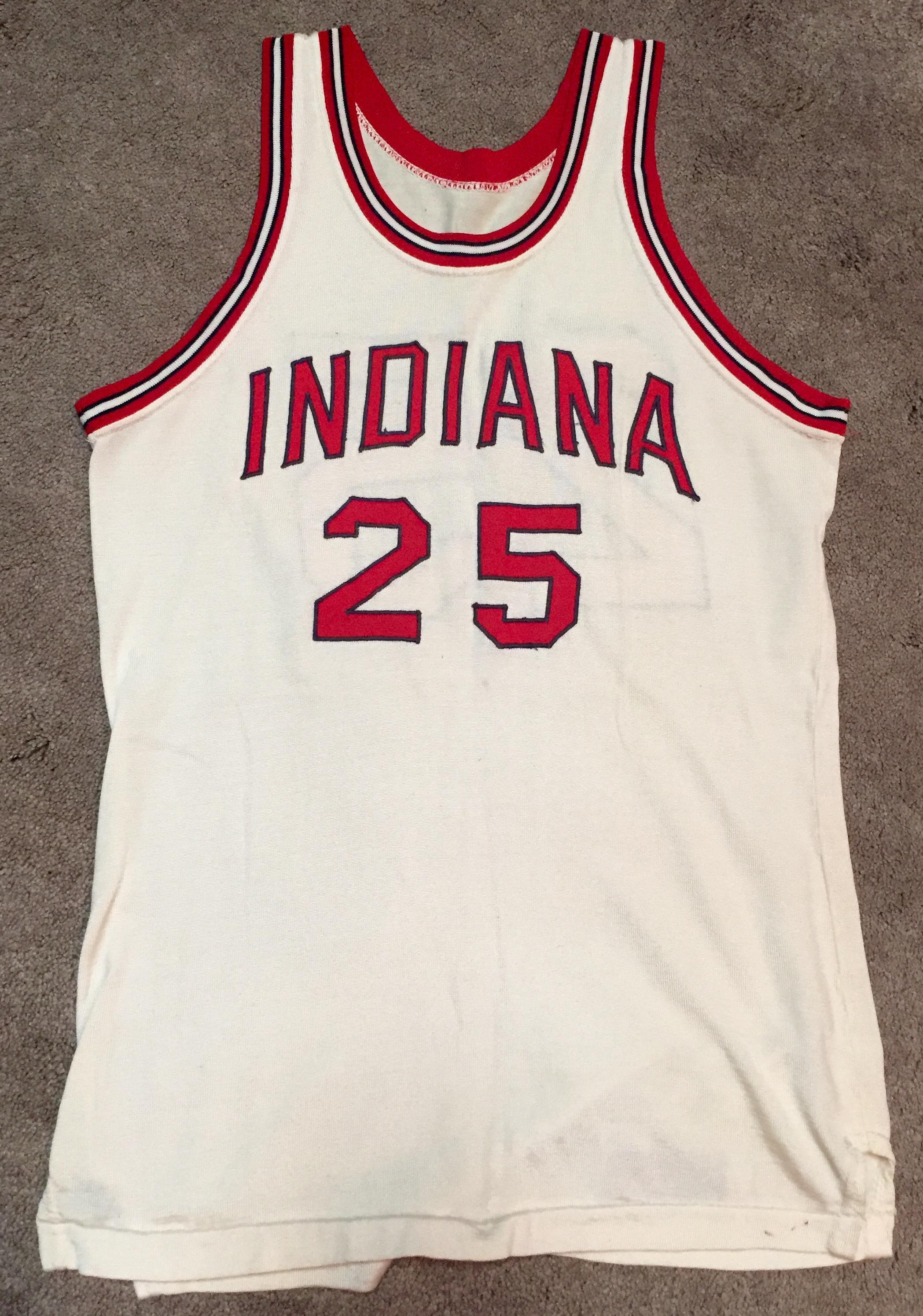 4b8db67bd00 A rare 1969-70 season Jeff Stocksdale IU home jersey. This jersey bears a
