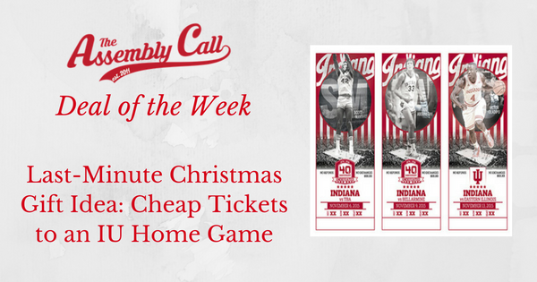 Last-Minute Christmas Gift Idea: Cheap Tickets to an IU Basketball Home Game