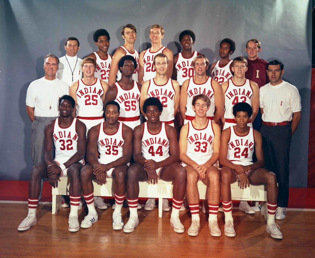 The 1970-71 Indiana Hoosiers. Photo: courtesy of Indiana University Archives.