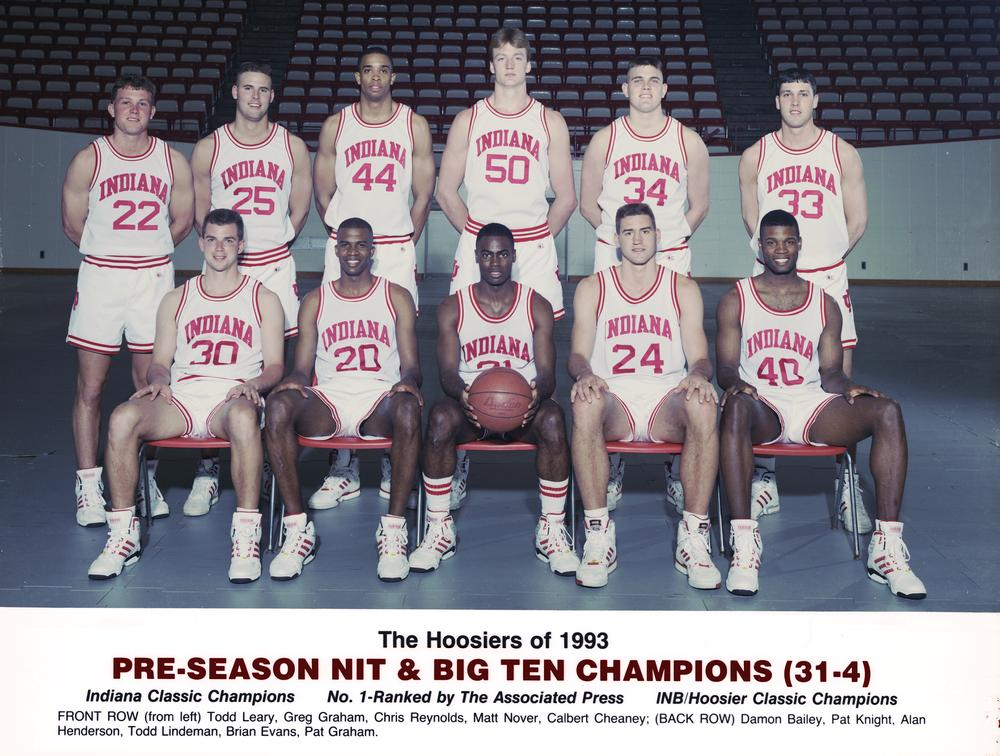 The Hoosiers of 1992-93. Photo: courtesy of IU Archives