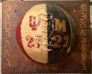 1932 Indiana v Minnesota Game Ball Trophy