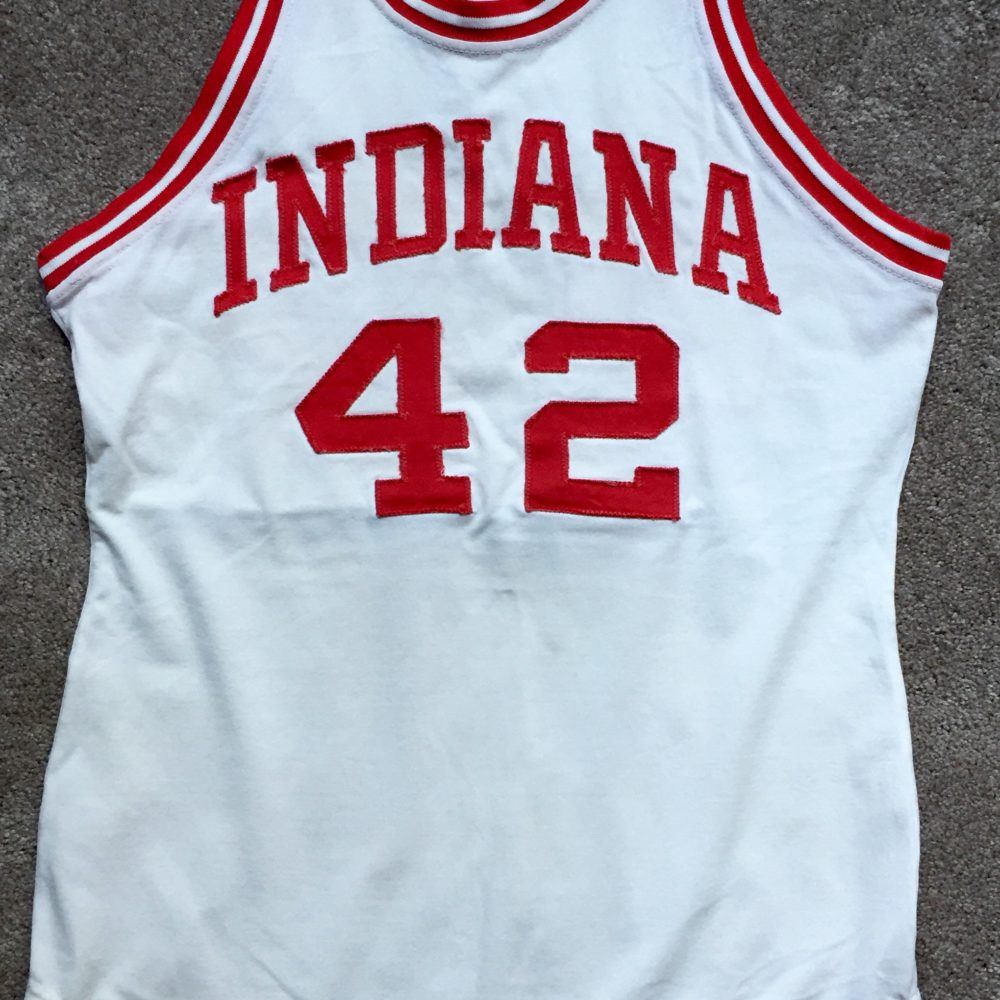 IU Artifacts 1976 77 Mike Woodson Game Used Jersey