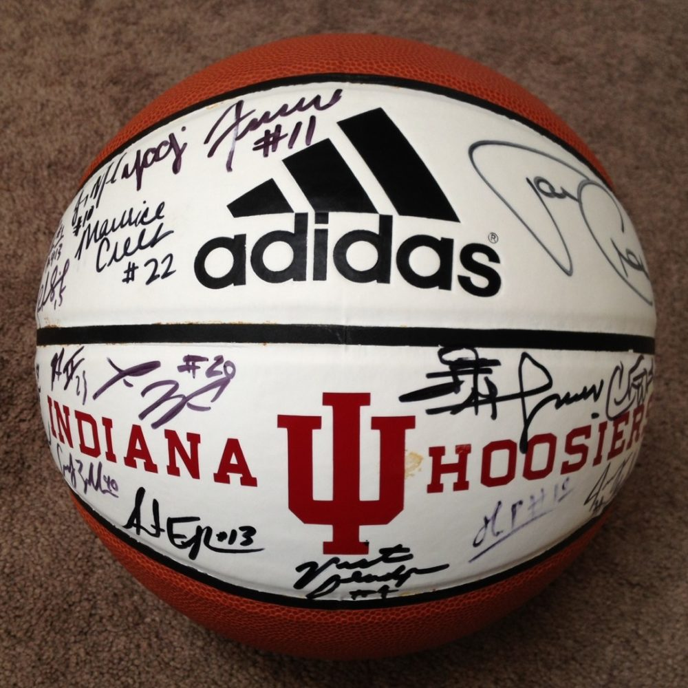2012-13 Indiana Hoosiers Team Signed Basketball