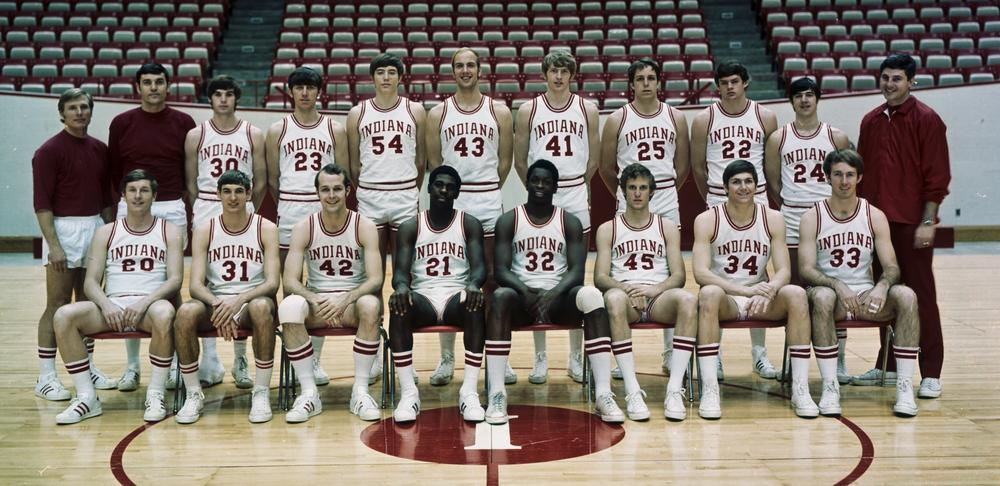 The 1972-73 Hoosiers. Photo: courtesy of Indiana University Archives.