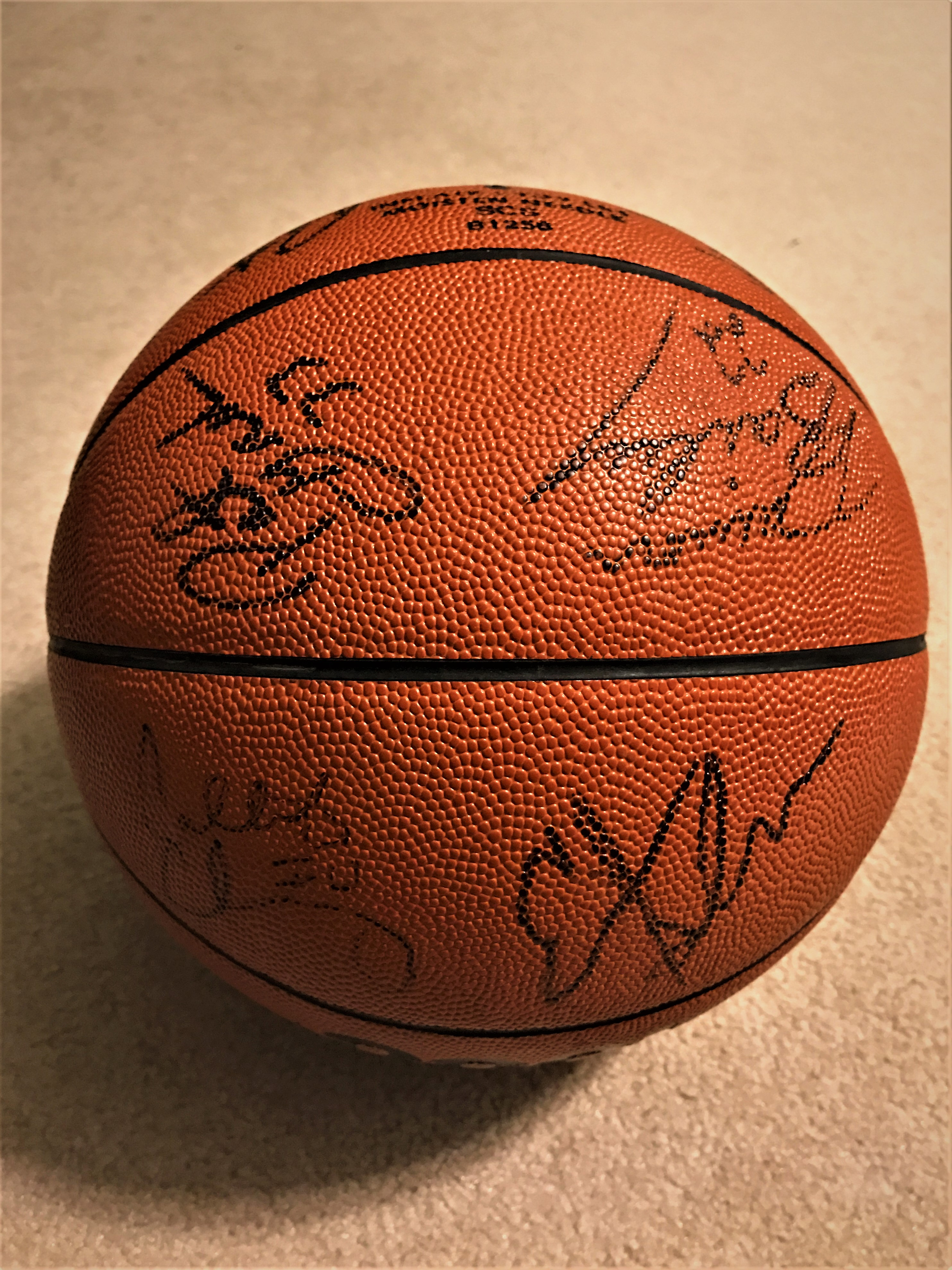 1990-91 Indiana Team Signed Basketball and Ticket Stub