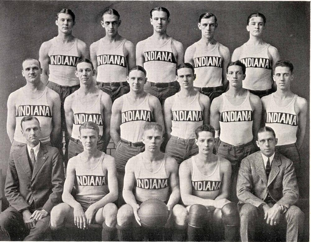 The 1921-22 Indiana Hoosiers. Photo: courtesy of Indiana University Archives.