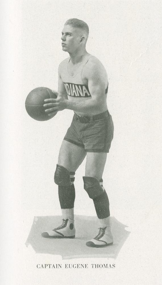 Junior Eugene Thomas, team captain. Photo: courtesy of Indiana University Archives.