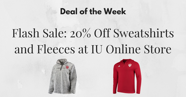 Flash Sale: 20% Off Sweatshirts and Fleeces at IU Online Store
