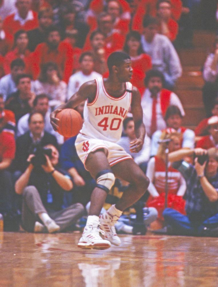 Sophomore Calbert Cheaney led the Hoosiers in scoring in 1990-91 with 21.6 ppg. Photo: courtesy of Indiana University Archives.