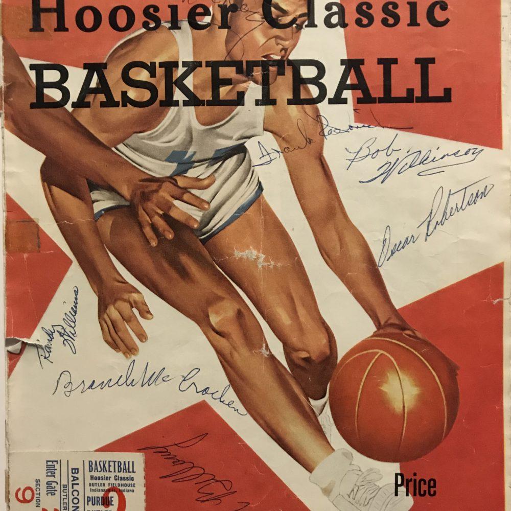 1958 Hoosier Classic Signed Program