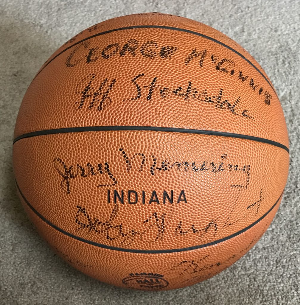 1970-71 Indiana Team Signed Game Used Basketball